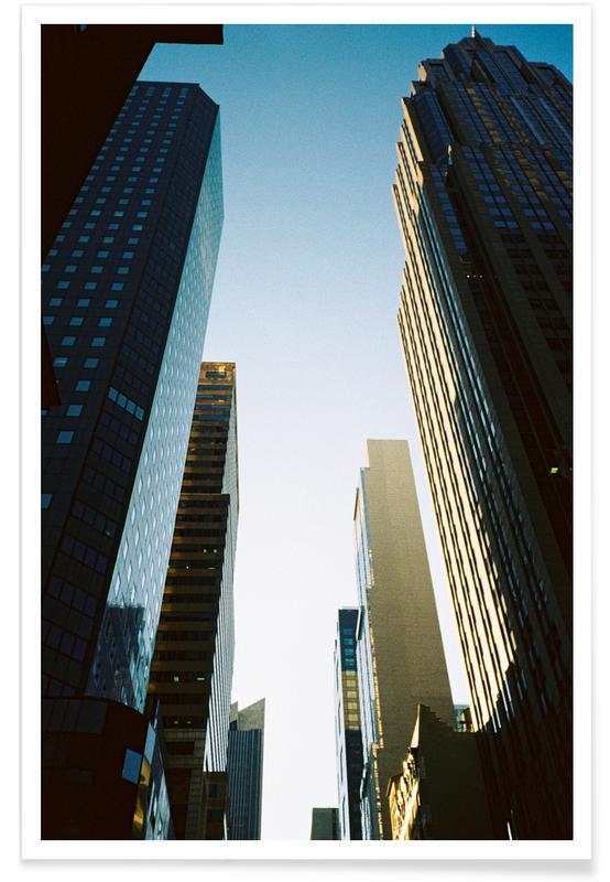 New York, Gratte-ciels, New York City affiche