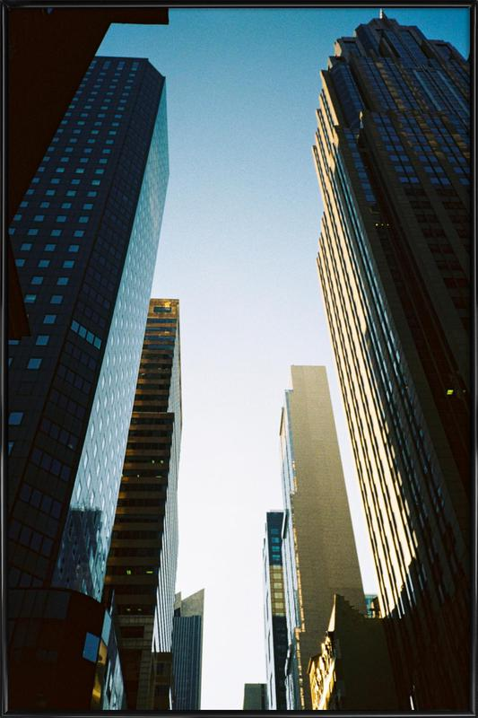 New York City -Bild mit Kunststoffrahmen