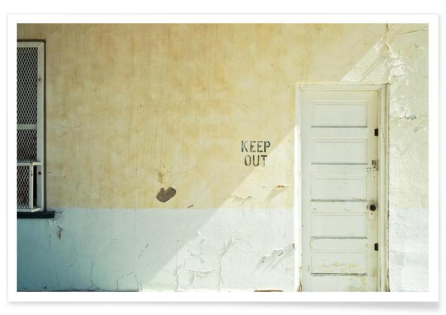 Détails architecturaux, Keep out affiche