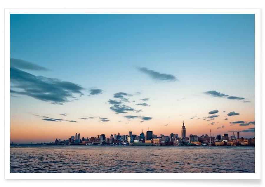 New York, Skylines, Silver Lining Poster