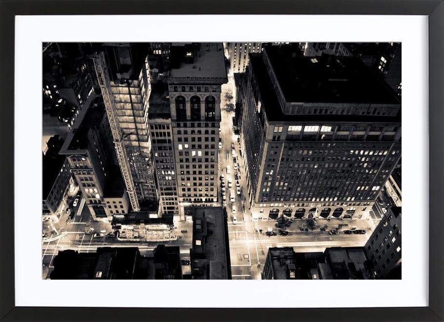 The City of Blinding Lights Framed Print