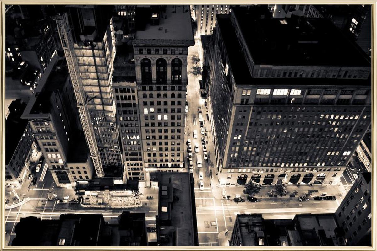 The City of Blinding Lights poster in aluminium lijst