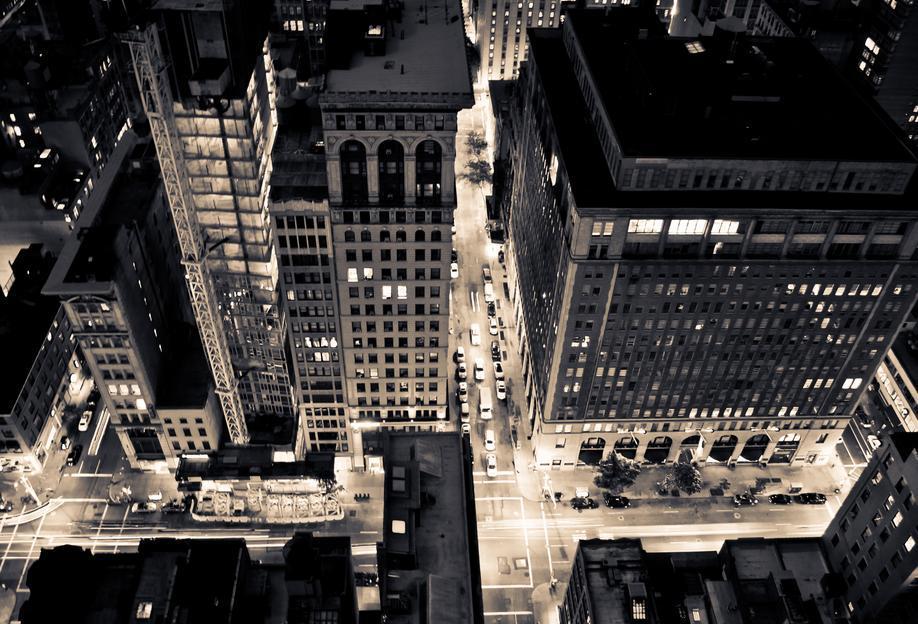 The City of Blinding Lights Aluminium Print