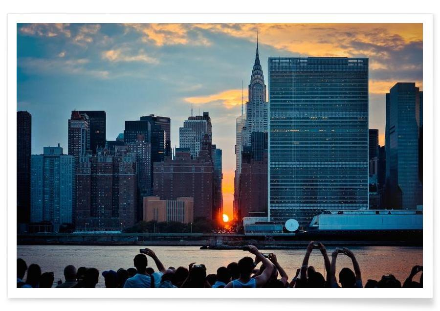 New York, Skylines, Here Comes the Sun affiche