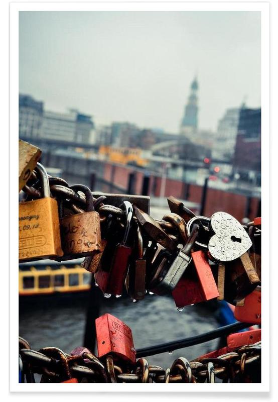 Amsterdam, Architekturdetails, Love Locked -Poster