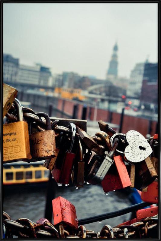 Love Locked affiche encadrée