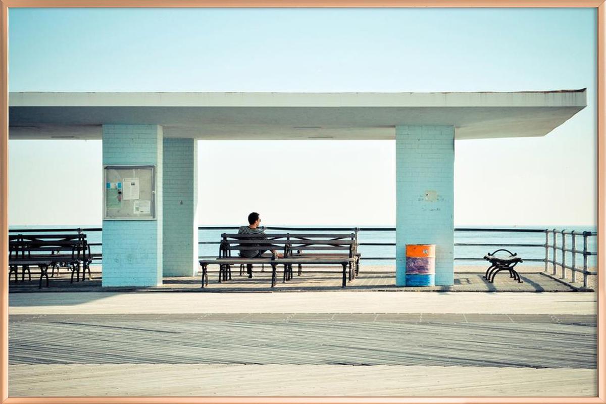 Coney Island  Poster in Aluminium Frame