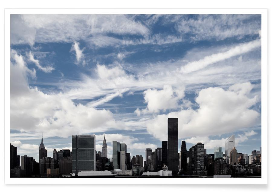 New York, Skylines, Feathers affiche