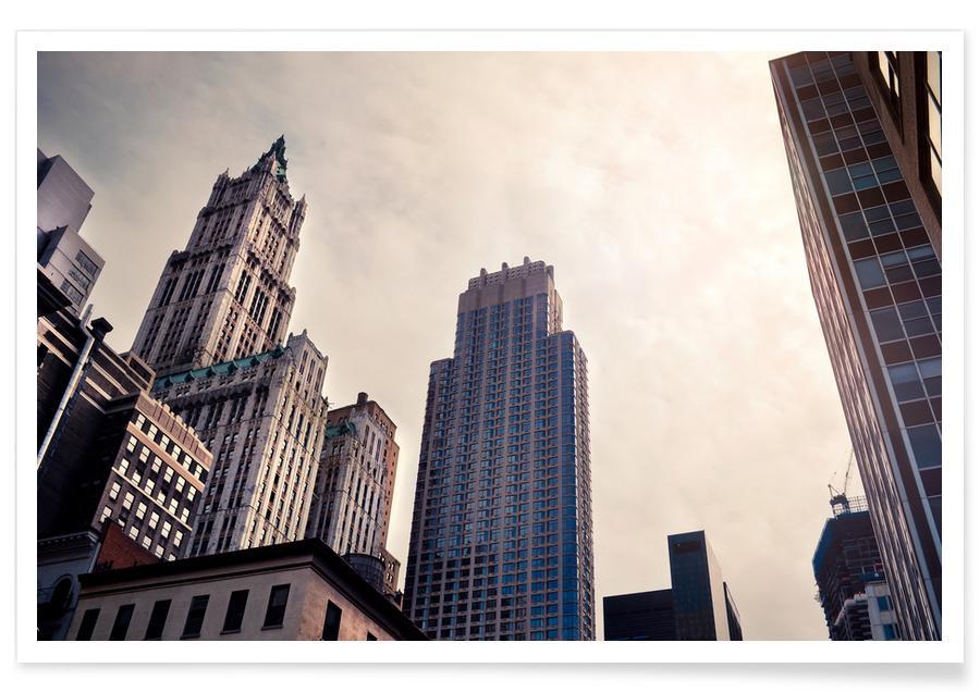 New York, Wolkenkratzer & Hochhäuser, Melting Light -Poster