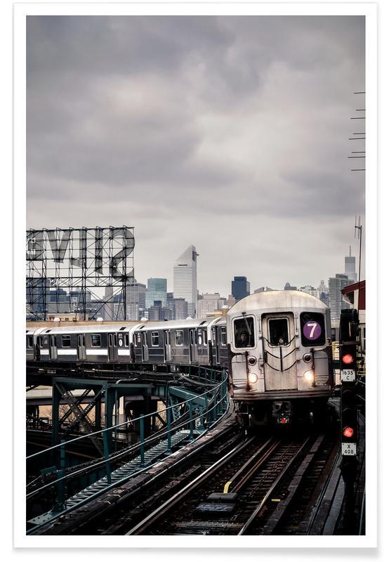 New York, Trains, Métro de New York affiche