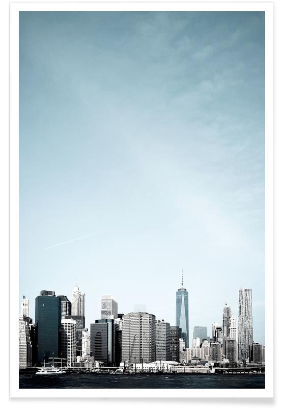New York, Skylines, South Street affiche