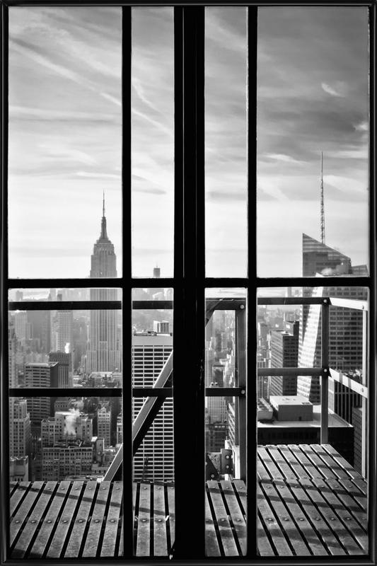 Window To The World -Bild mit Kunststoffrahmen