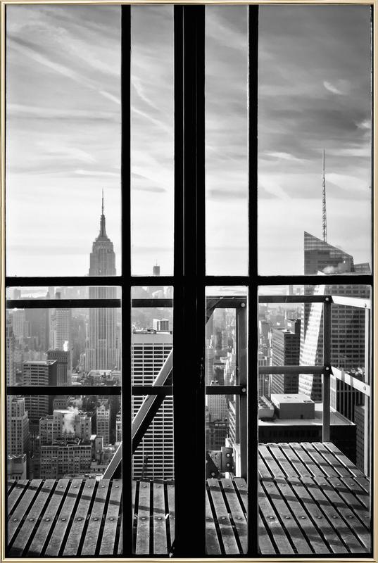 Window To The World -Poster im Alurahmen