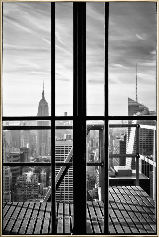 Window To The World Poster in Aluminium Frame