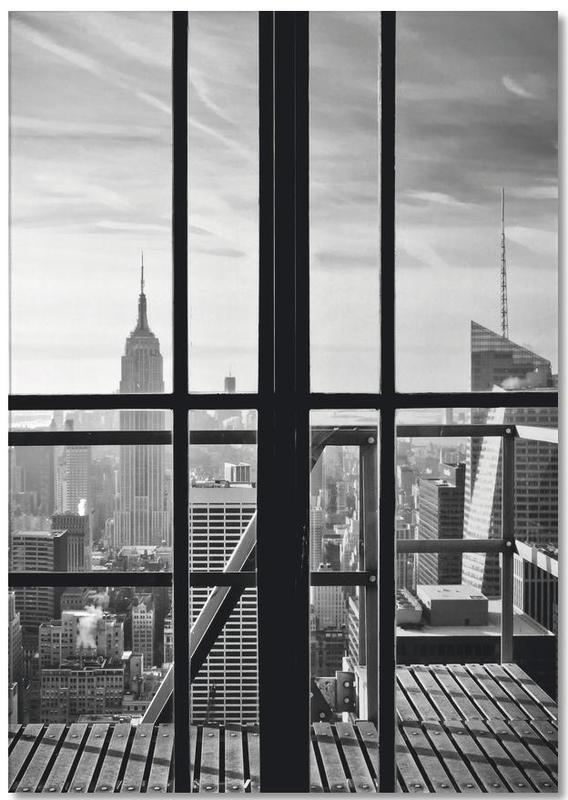 Détails architecturaux, New York, Noir & blanc, Window To The World bloc-notes