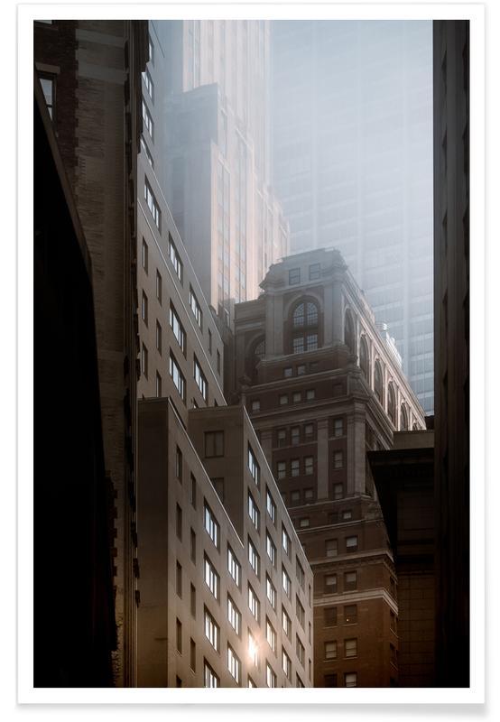 New York, Skyskrapor & höghus, Manhattan Morning Poster