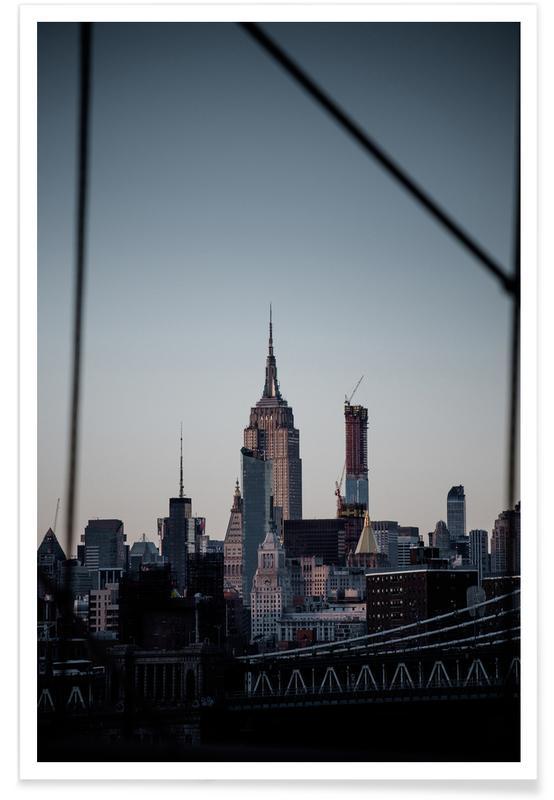 Bezienswaardigheden en monumenten, New York, Skylines, Manhattanites I poster