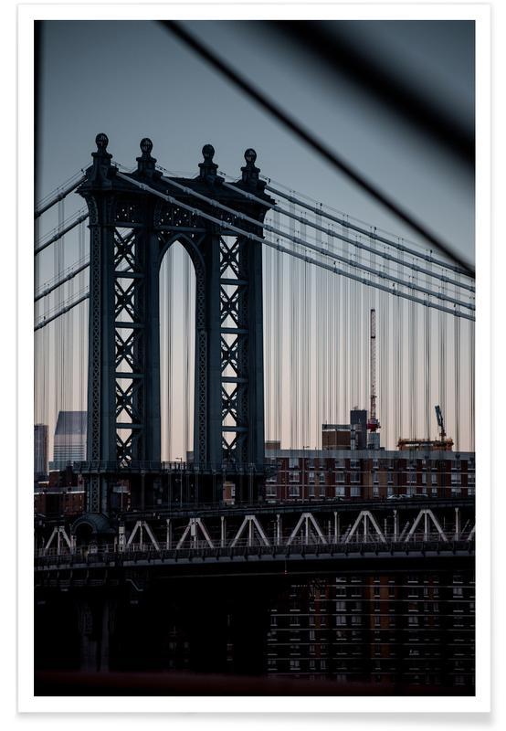 Ponts, Monuments et vues, New York, Manhattanites II affiche