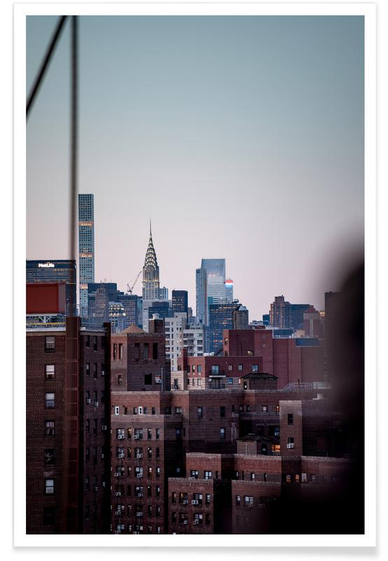 New York, Wolkenkrabbers, Manhattanites III poster