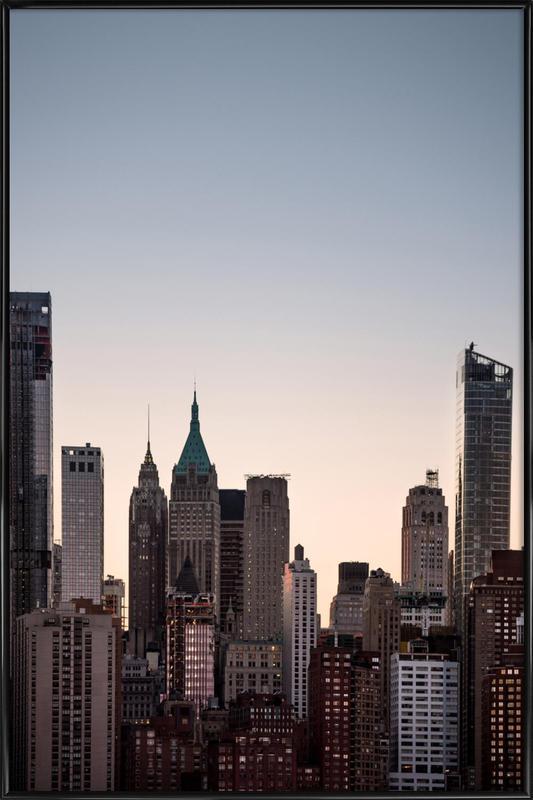 Skyscrapers -Bild mit Kunststoffrahmen