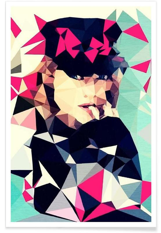 Portraits, Multicolor affiche