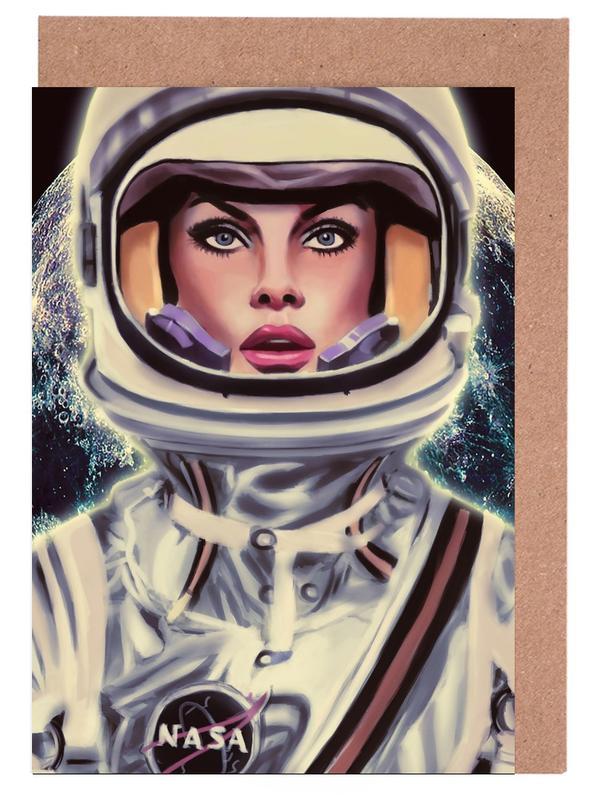 Astronauten, Le Cosmonaute -Grußkarten-Set