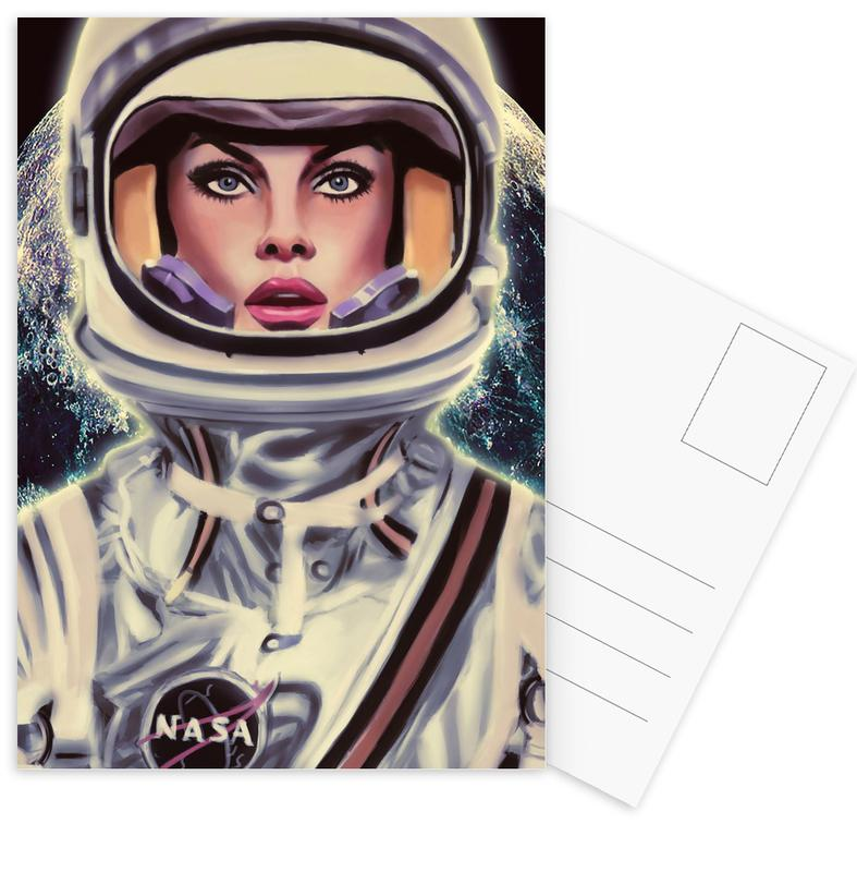 Astronauten, Le Cosmonaute -Postkartenset