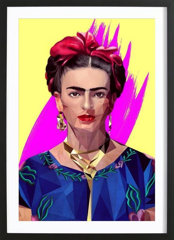 Modern Frida -Bild mit Holzrahmen