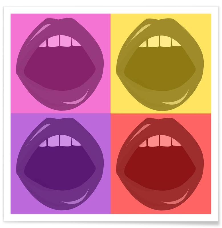 Pop Art, Lips affiche