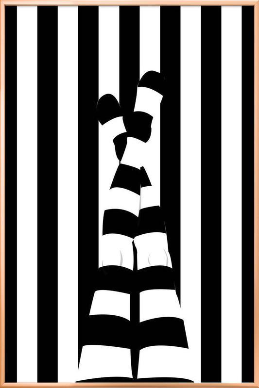 Striping legs -Poster im Alurahmen