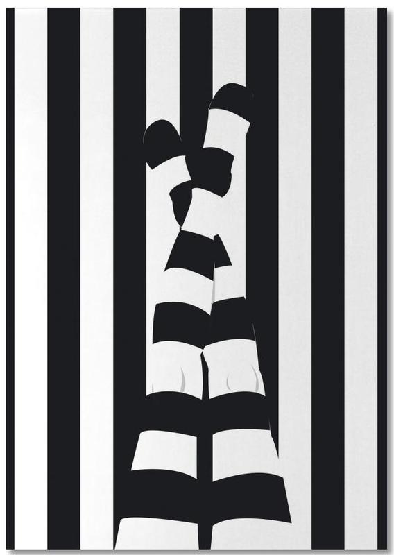 Black & White, Body Close-Ups, Striping legs Notepad