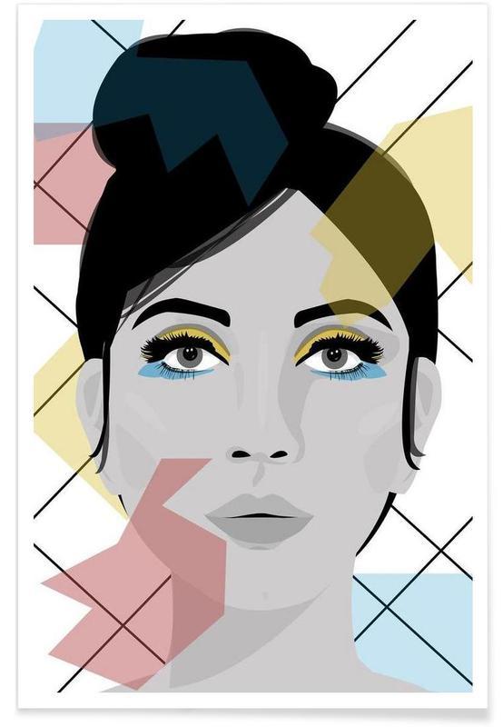 Portraits, Colour on my face affiche