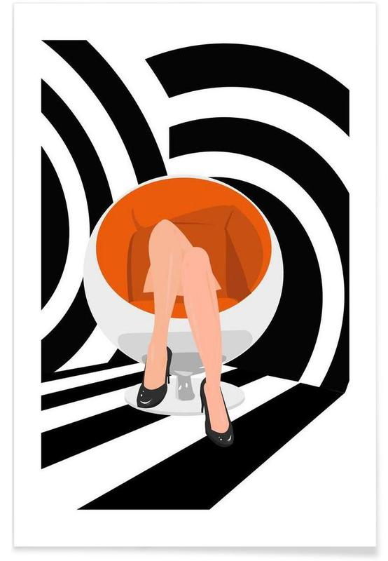 Illustrations de mode, Egg affiche
