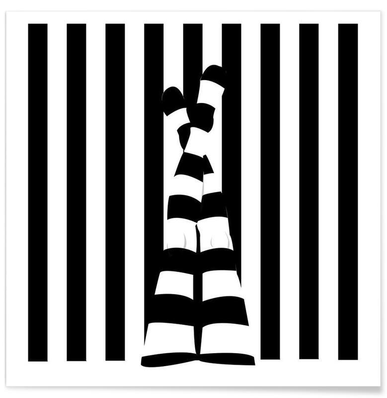 Striping legs affiche