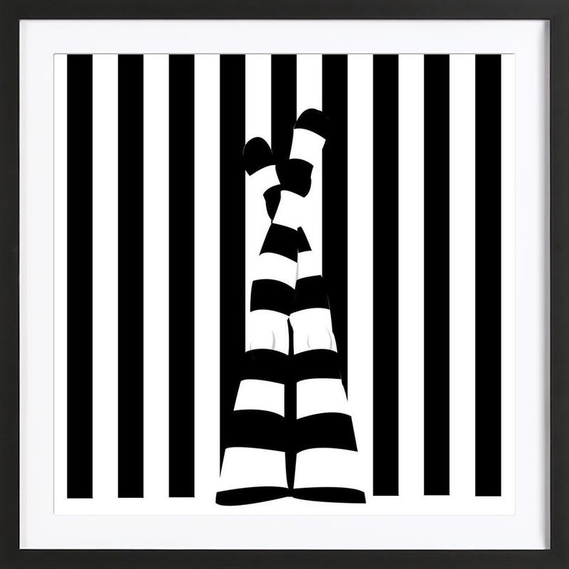 Striping legs Framed Print
