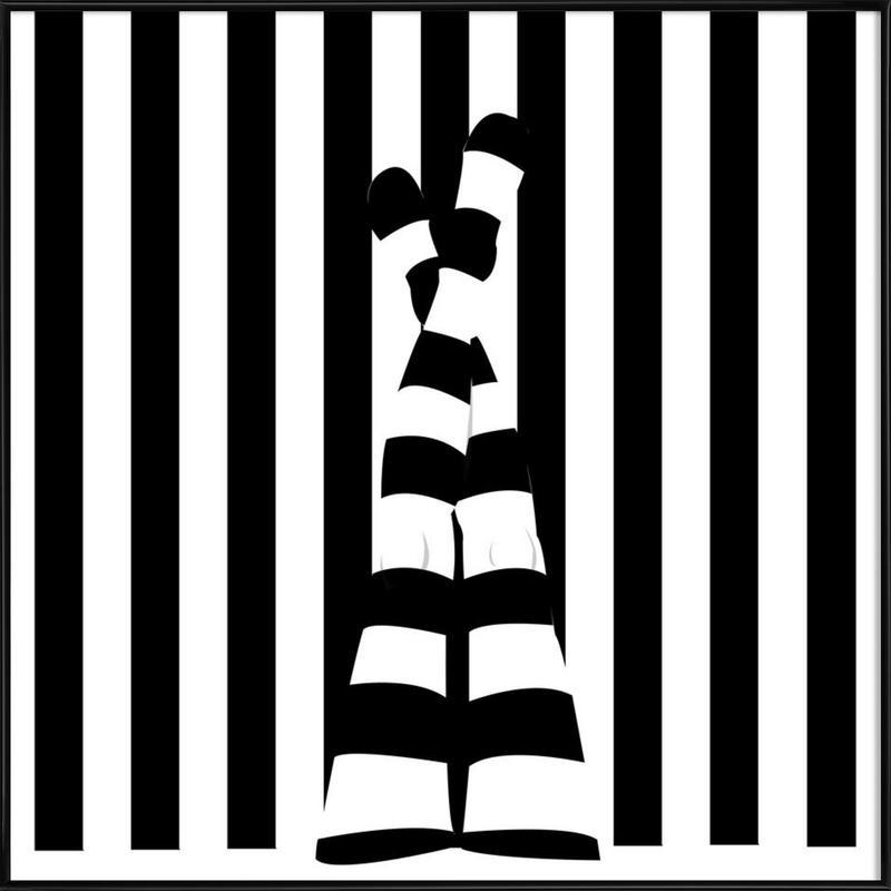 Striping legs Framed Poster