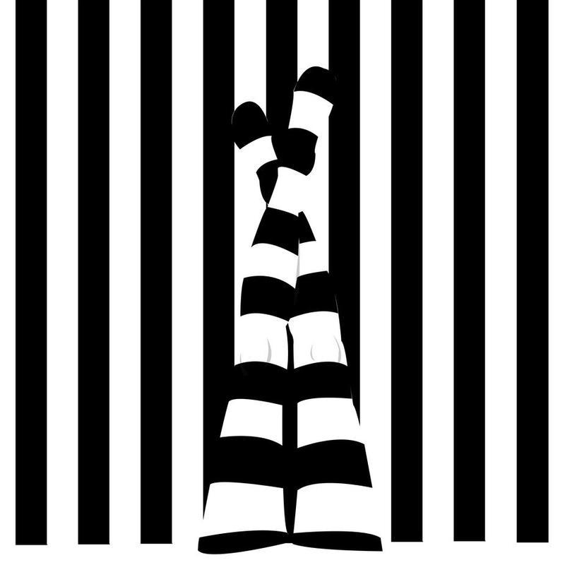 Striping legs Acrylic Print