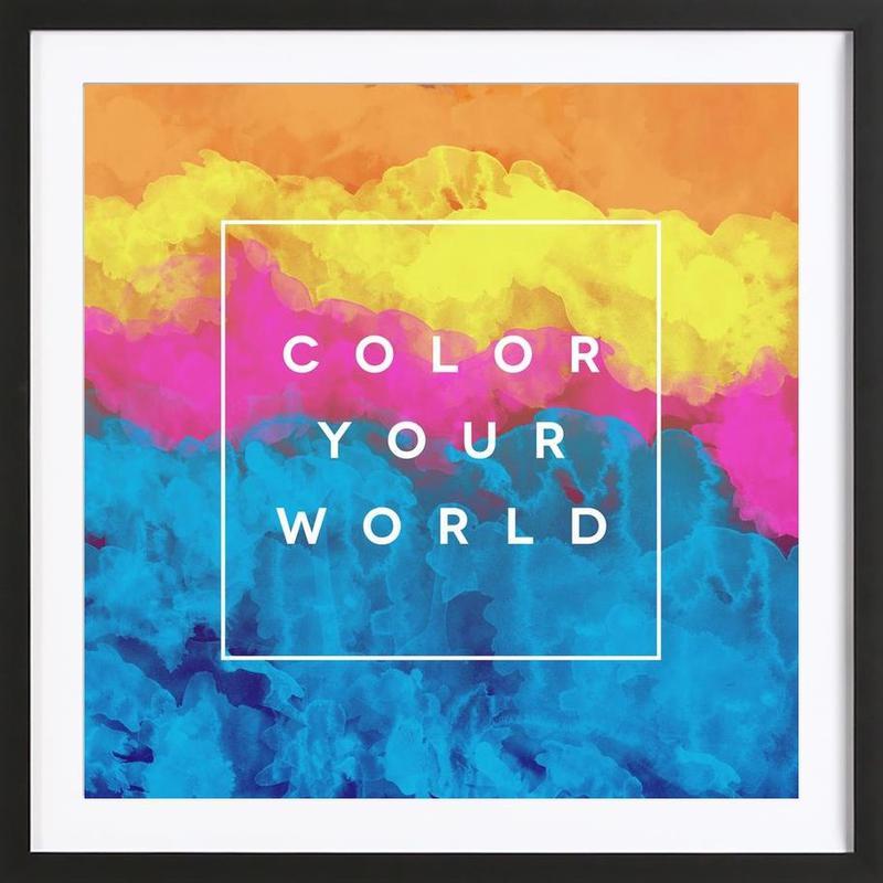 Color Your World Framed Print