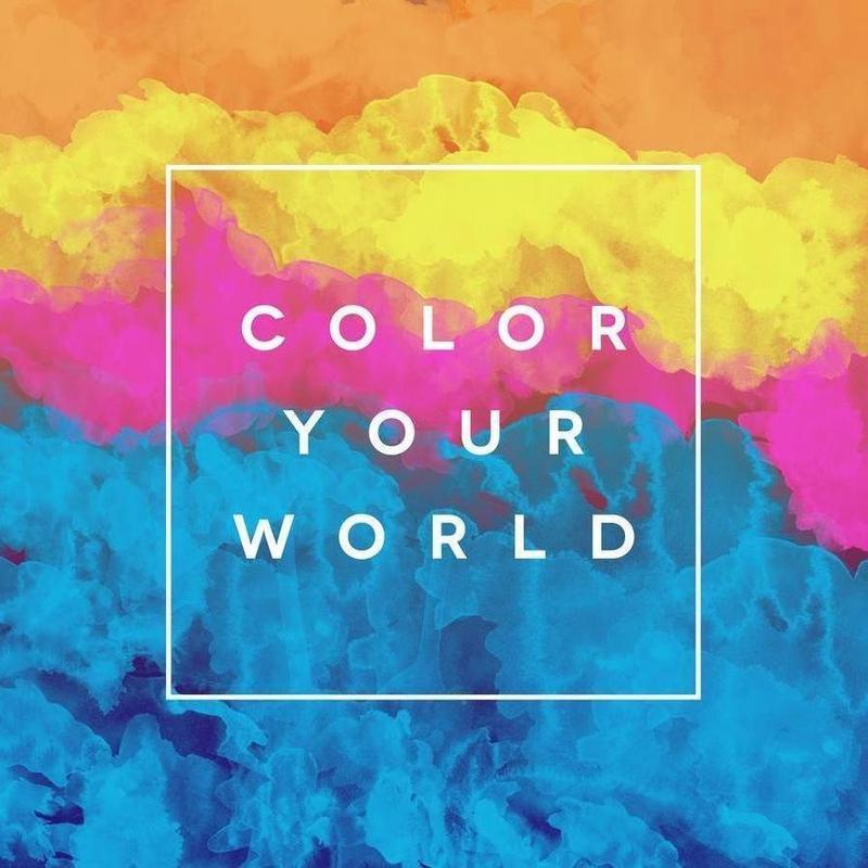 Color Your World canvas doek