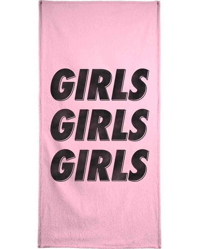Girls Black Beach Towel