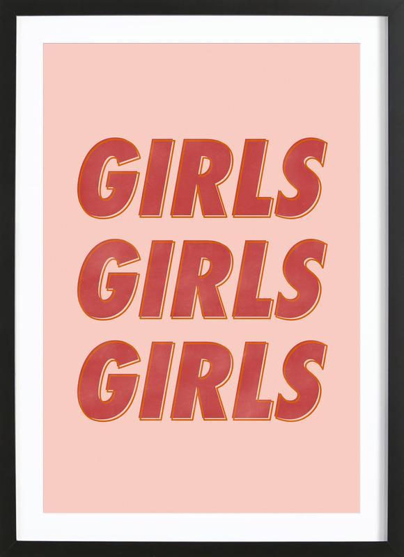 Girls Red Framed Print