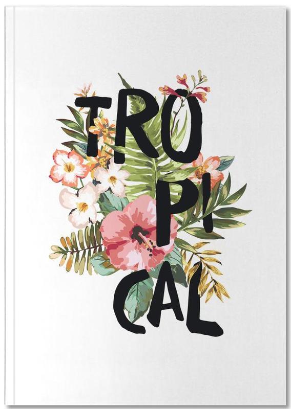 Feuilles & Plantes, Motivation, Tropical White Notebook