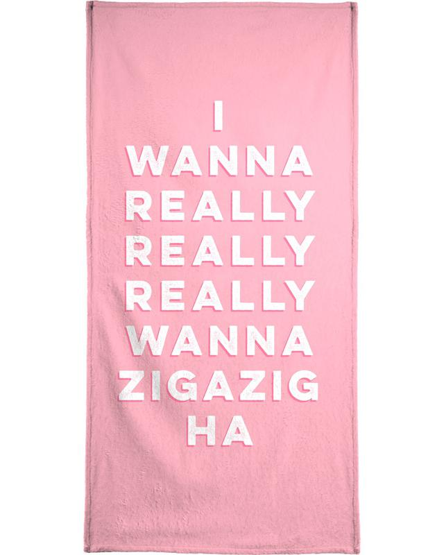 Lyrics, Quotes & Slogans, Love Quotes, Zigazig Beach Towel