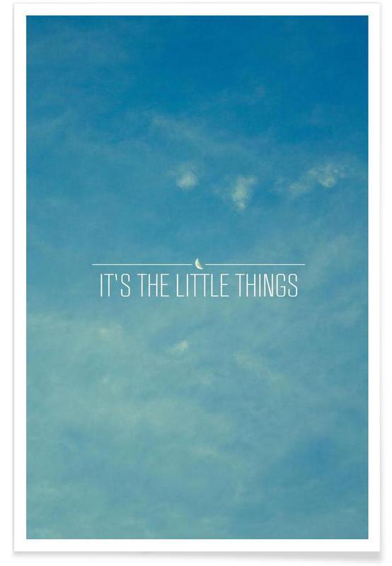 Motiverende, Himmel & skyer, Little Things Plakat