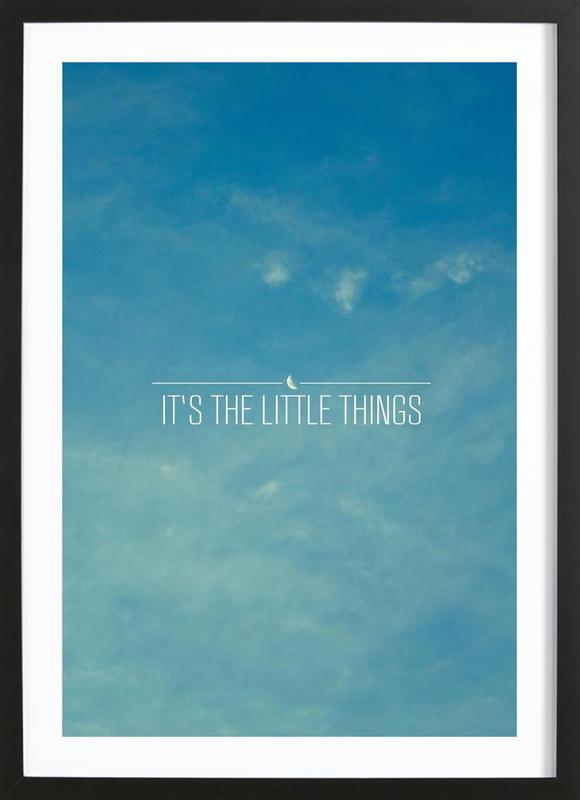 Little Things affiche sous cadre en bois
