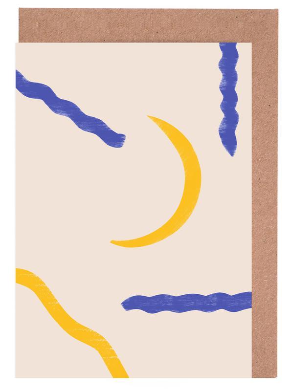 Mond, Kinderzimmer & Kunst für Kinder, Luna -Grußkarten-Set