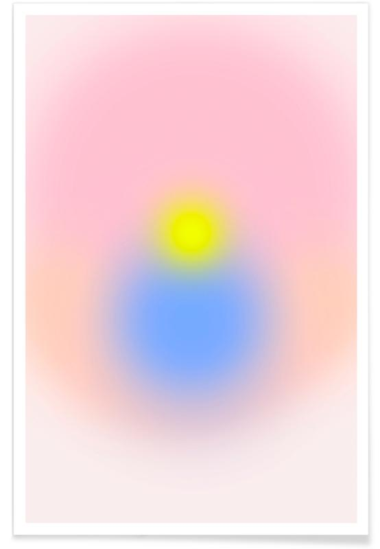 Yoga, Morning Silence II Gradient affiche