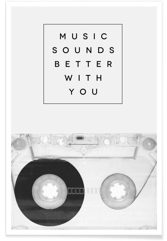 Noir & blanc, Music Sounds Better With You affiche