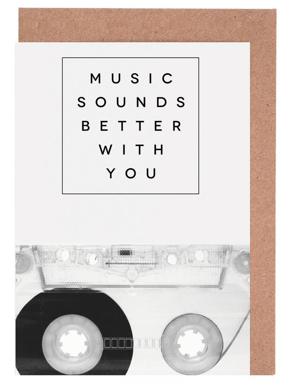 Schwarz & Weiß, Music Sounds Better With You -Grußkarten-Set