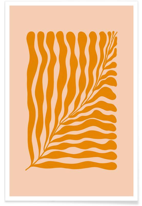 Feuilles & Plantes, Orange Leaf affiche